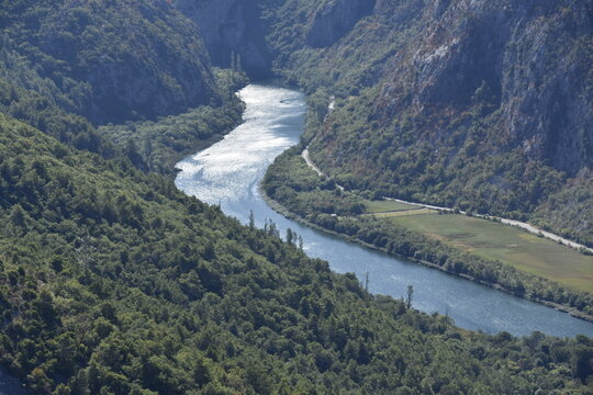 Significant landscape, Cetina River Canyon, Croatia,
