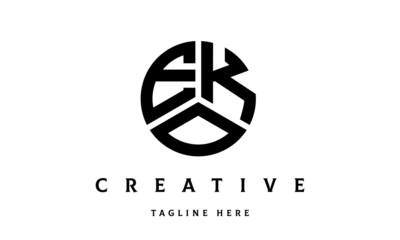 EKO creative circle three letter logo