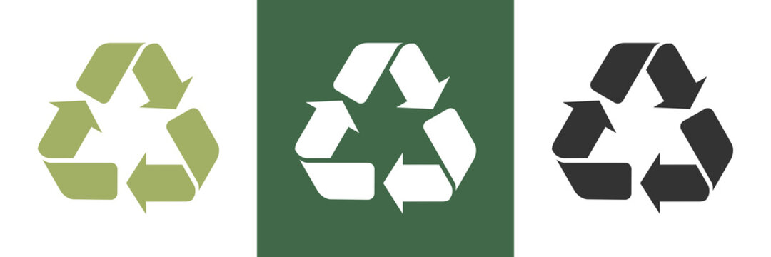 Recycle Umwelt Vektor Logos