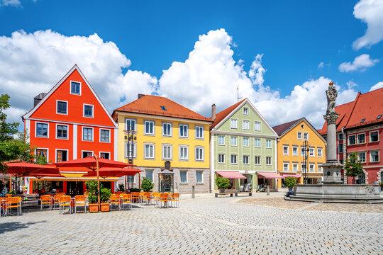 Marienplatz, Mindelheim, Bayern, Deutschland