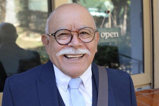 Senior businessman with a mustache