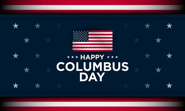 Columbus Day Background Design. Vector Illustration.