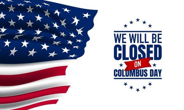 Columbus Day Background Design. Close on Columbus Day.