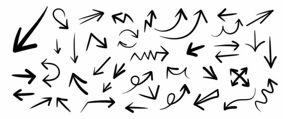 Obraz Hand drawn arrow mark icons vector  - fototapety do salonu