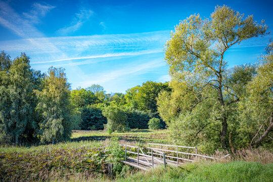 Skane Countryside Wooden Bridge