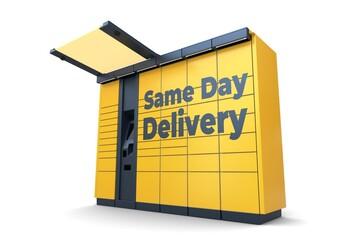 Obraz Paczkomat_same_day_delivery_2 - fototapety do salonu