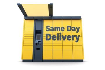 Obraz Paczkomat_same_day_delivery_1 - fototapety do salonu