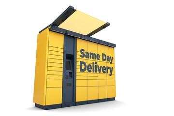 Obraz Paczkomat_same_day_delivery_3 - fototapety do salonu