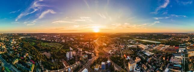 Aerial drone view of Chisinau, Moldova