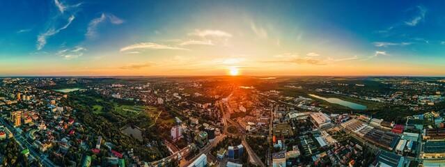 Obraz Aerial drone view of Chisinau, Moldova - fototapety do salonu