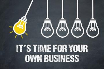 Fototapeta It´s time for your own business obraz