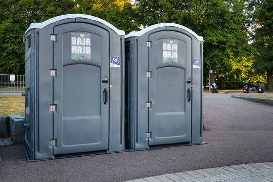 Two Outdoor Portable Toilets with Wheelchair Access