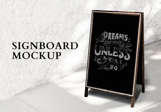Editable Signboard Mockup for Restaurant