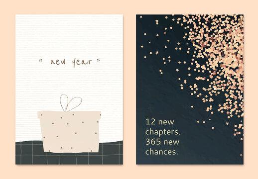 Editable New Year Card Layout