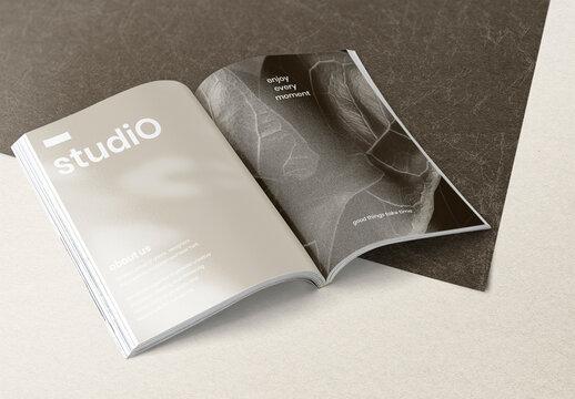 Editable Magazine Mockup for Advertisement