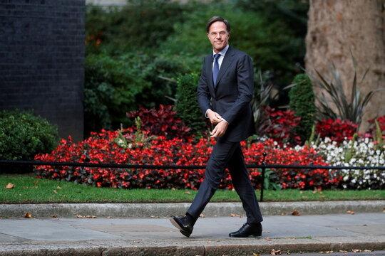 Britain's Prime Minister Johnson meets Netherlands' Prime Minister Rutte in London