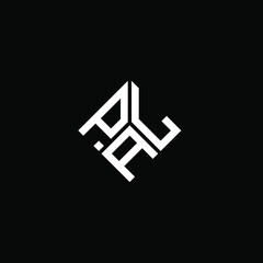 Fototapeta PLA letter logo design on black background. PLA creative initials letter logo concept. PLA letter design.  obraz