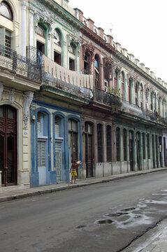 Residential street in Central Havana, 2006