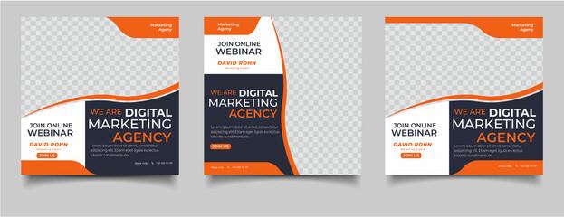 Fototapeta Digital marketing live webinar and corporate template obraz