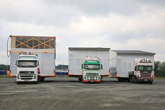 Three Oversize Load Transports in a Row