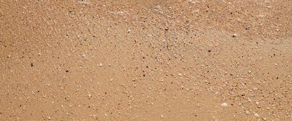 Fototapeta Summer day beach sand texture. Top view, flat lay. Banner obraz