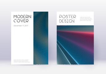 Obraz Minimal cover design template set. Red abstract li - fototapety do salonu