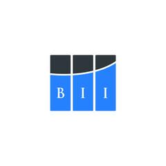 BII letter logo design on white background. BII creative initials letter logo concept. BII letter design.