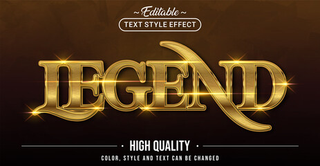 Editable text style effect - Legend text style theme.