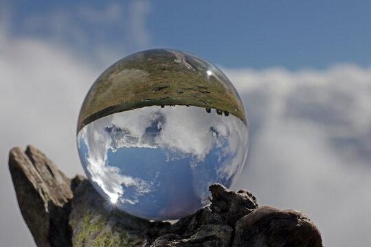 Alpen in kristallkugel, alpen, schweiz