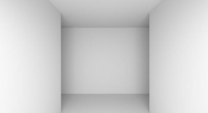 architecture blank white minimalist wall corner indoor 3D