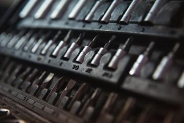 Fototapeta Bity w skrzynce narzędziowej obraz