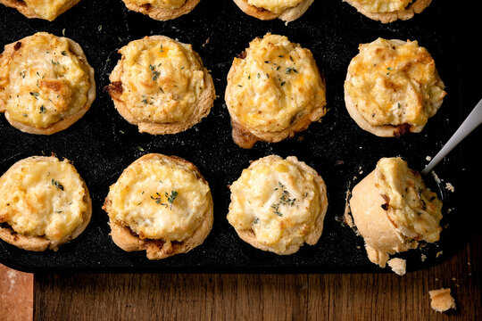 Mince meat mini pies with mashed potato