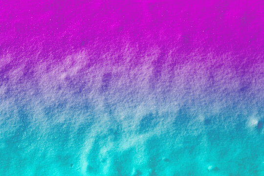 Colored snow texture with pink, blue, magenta colors for art design backgrounds