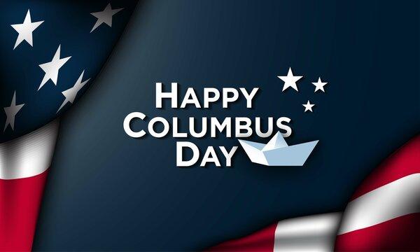 Columbus Day Background Design.