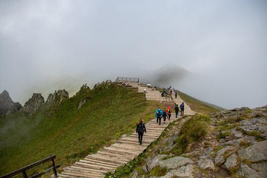 Montagne volcanique en France : vue sur le Puy de Sancy, Auvergne