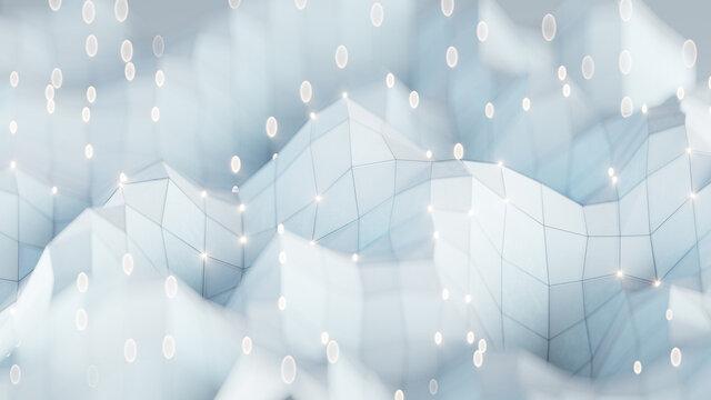 White network shape 3D rendering