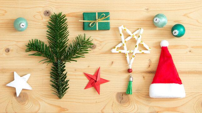 Weihnachten Flatlay