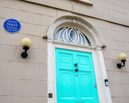 Gustav Holst Plaque in Thaxted, Essex, UK