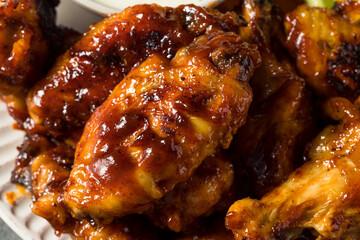 Obraz Homemade Honey BBQ Chicken Wings - fototapety do salonu