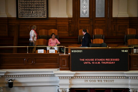 Texas House of Representatives convenes a third special legislative session at the Texas State Capitol in Austin