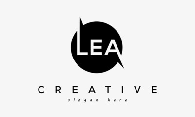Fototapeta LEA creative circle letters logo design victor obraz