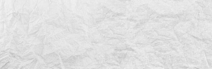 Fototapeta Panorama white paper wrinkled texture background. obraz