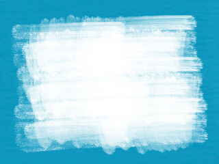 Grunge texture white painted background on blue