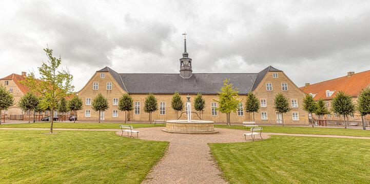 salshuset a Moravian Church in the protestant Settlement Christiansfeld