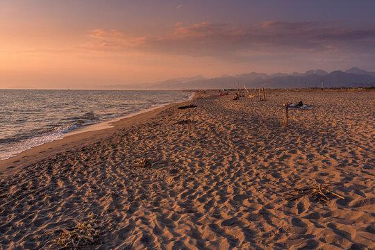 Plaża morza tyrreńskiego