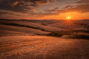 Fototapeta Zachód słońca w Toskanii  obraz