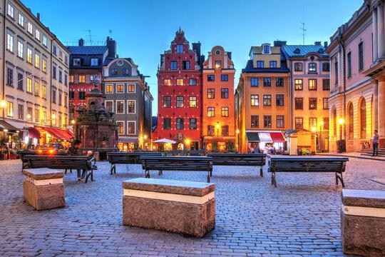Stortorget, Stockholm, Sweden during a summer evening