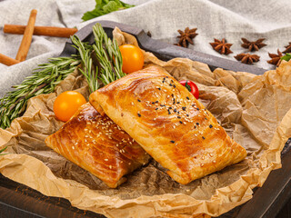 Obraz Asian traditional pastry with meat - fototapety do salonu