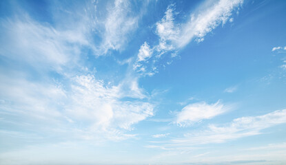 Fototapeta Beautiful blue sky clouds for background. Panorama of sky. obraz