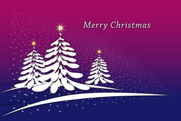 Fototapeta Karta z napisem Merry Christmas obraz